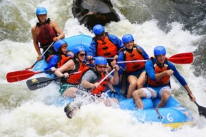 joan and logan whitewater rafting