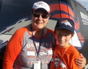 logan and joan at broncos game