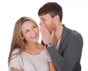Loving guy whispered something